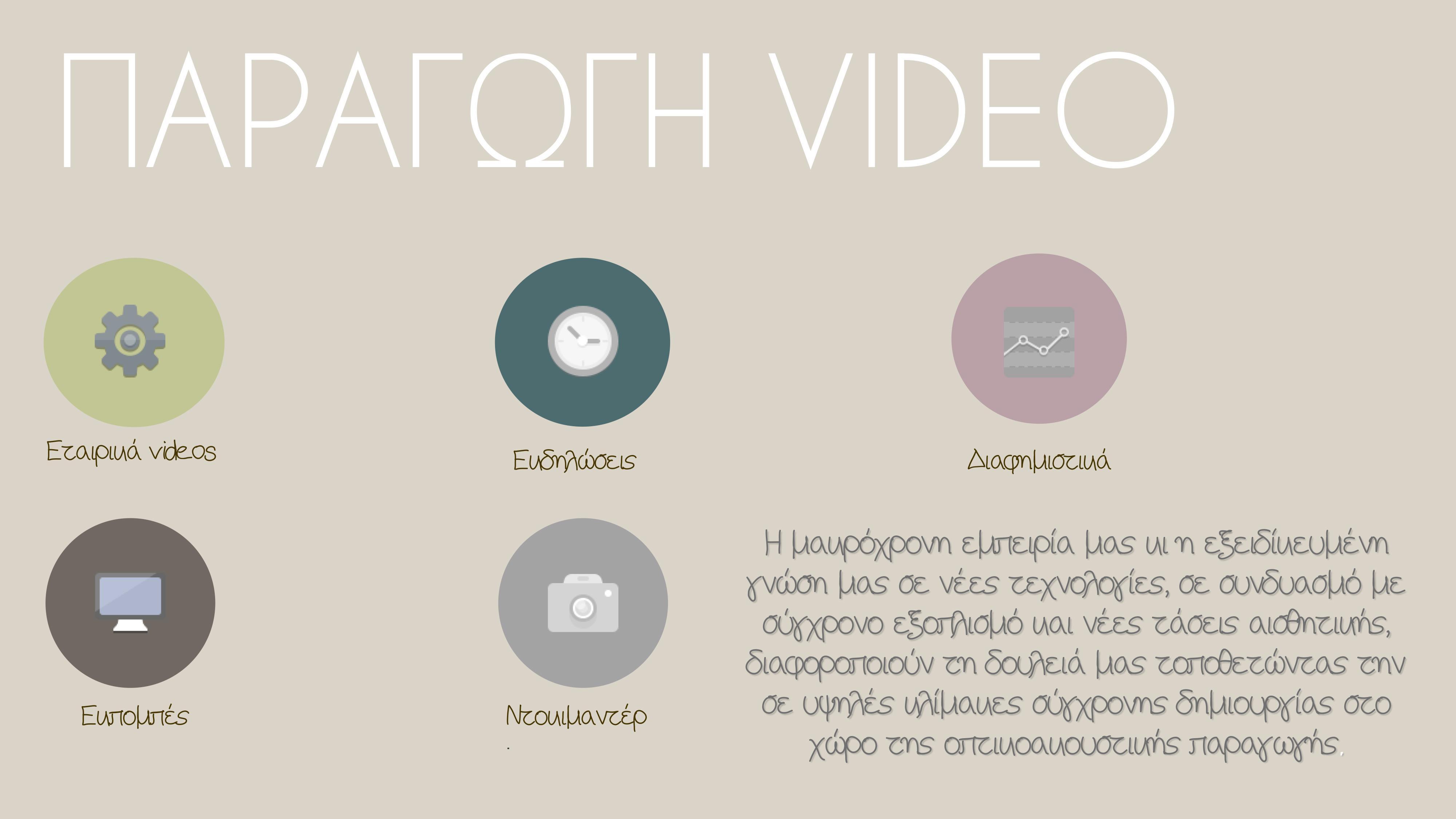 ΠΑΡΑΓΩΓΗ VIDEO